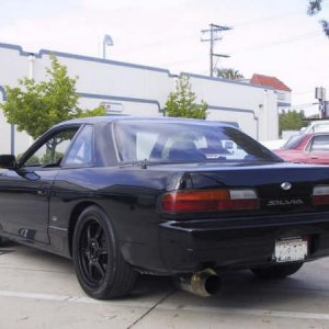 rear view with JDM badges and trunk lock